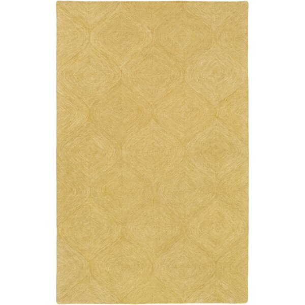 Bloch Hand-Tufted Gold Area Rug by Wrought Studio