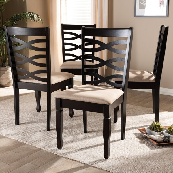 Sesco Solid Wood Dining Chair (Set of 4) by Canora Grey