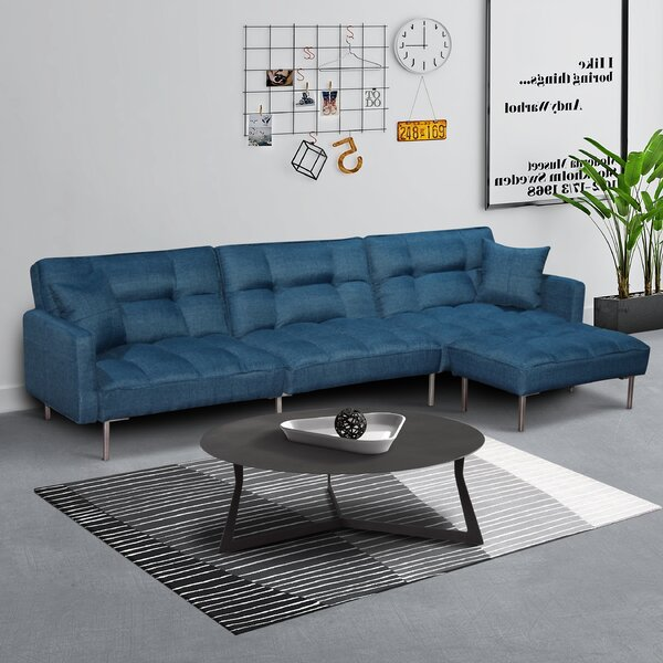 Biorn Reversible Sleeper Sectional with Ottoman by Latitude Run Latitude Run