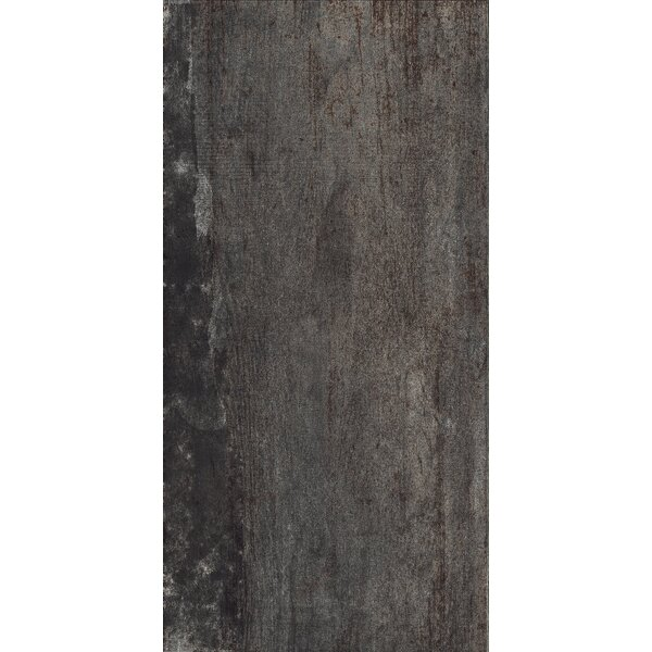 Blocks 12 x 24 Porcelain Field Tile in Dark Gray by Tesoro