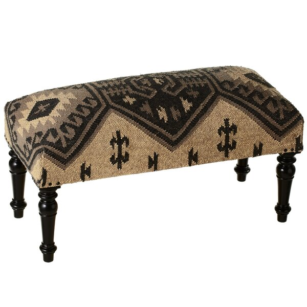 Pelletier Kilim Upholstered Bench by Union Rustic