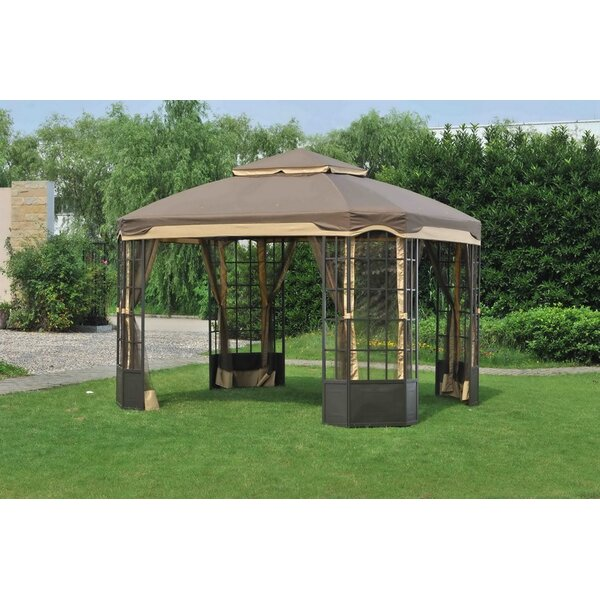Replacement Canopy (Deluxe) for Franklin Bay Window Gazebo by Sunjoy
