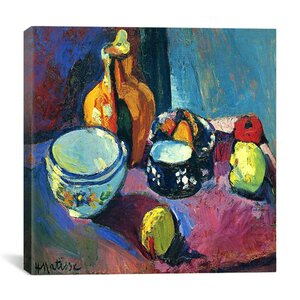 Dishes and Fruit (1901) Painting Print on Canvas by Astoria Grand