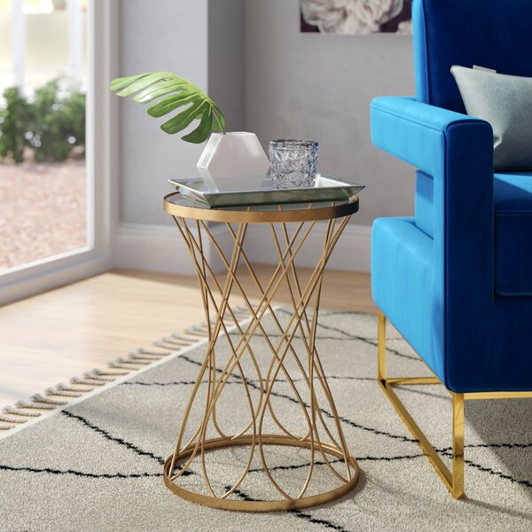 Osbourne End Table with Glass Top by Mercer41