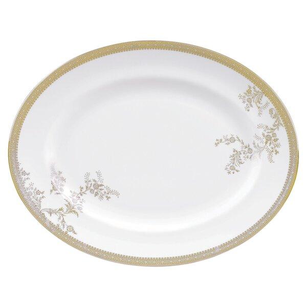 Vera Lace Gold Oval Platter by Vera Wang