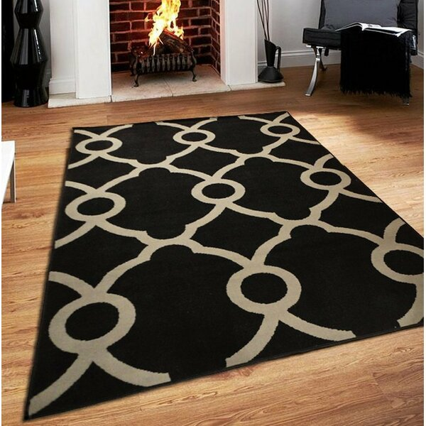 Riemann Black Indoor/Outdoor Area Rug by Ebern Designs