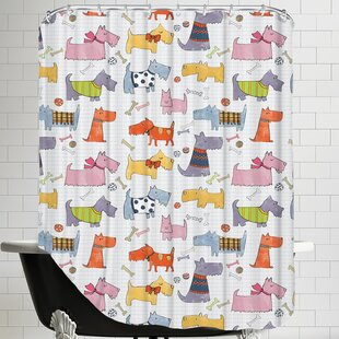 Dogs Shower Curtain ByEast Urban Home