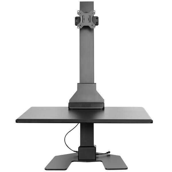 Electric Single Monitor Riser Standing Desk Converter by VonHaus