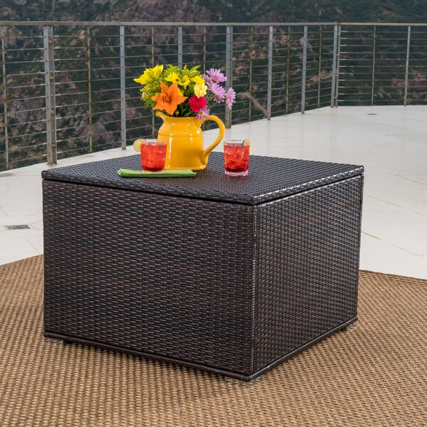 Benbow Wicker Deck Box by Mercury Row