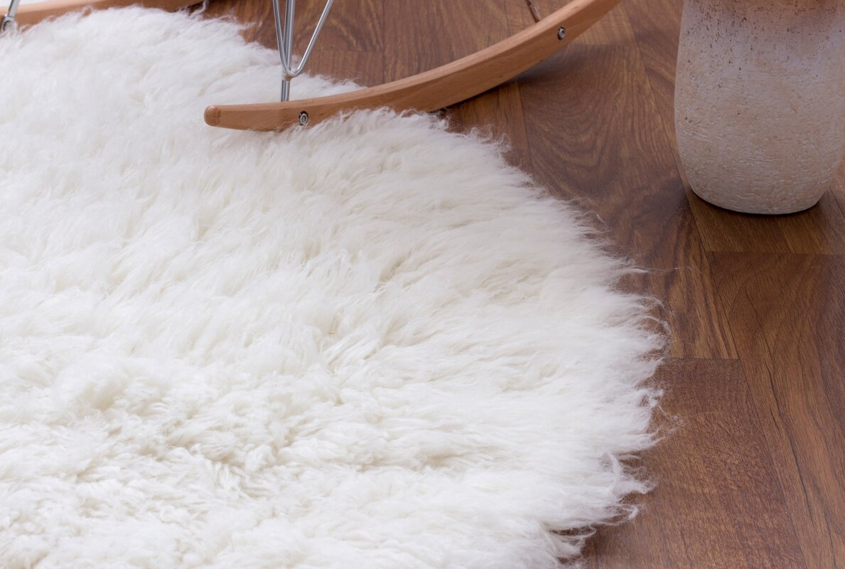 super area rugs handmade white area rug  reviews  wayfair - defaultname