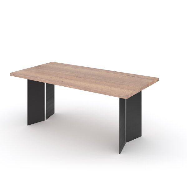 Keegan Solid Wood Dining Table by 17 Stories