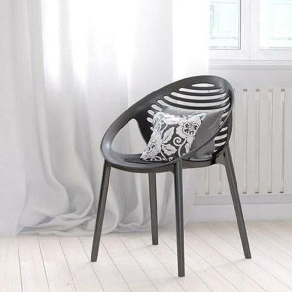 Elizebeth Stacking Patio Dining Chair (Set of 4) by Orren Ellis Orren Ellis