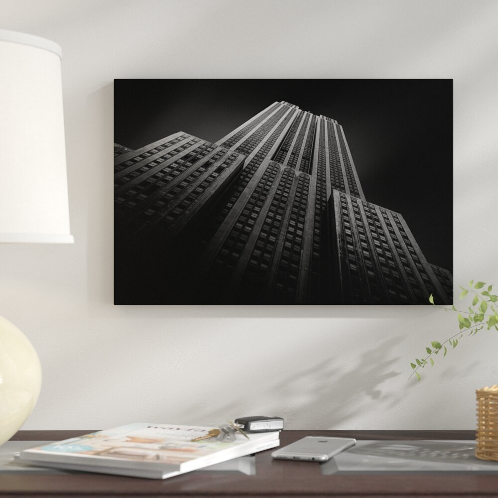East Urban Home Empire State Building Ii Photographic Print On Wrapped Canvas Wayfair