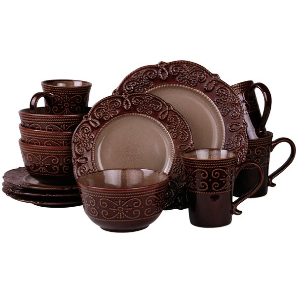 Jett 16 Piece Dinnerware Set, Service for 4 by Fleur De Lis Living