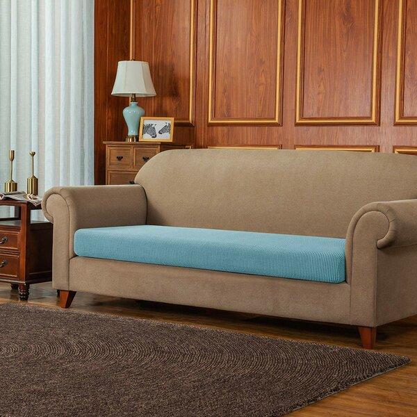 Review Jacquard Spandex Stretch Box Cushion Sofa Slipcover