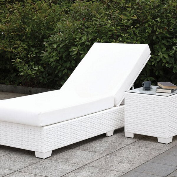 Leffingwell Adjustable Chaise Lounge with Cushion