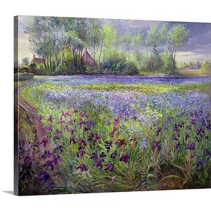'Trackway Past the Iris Field, 1991' by Timothy Easton Painting Print on Canvas by Great Big Canvas