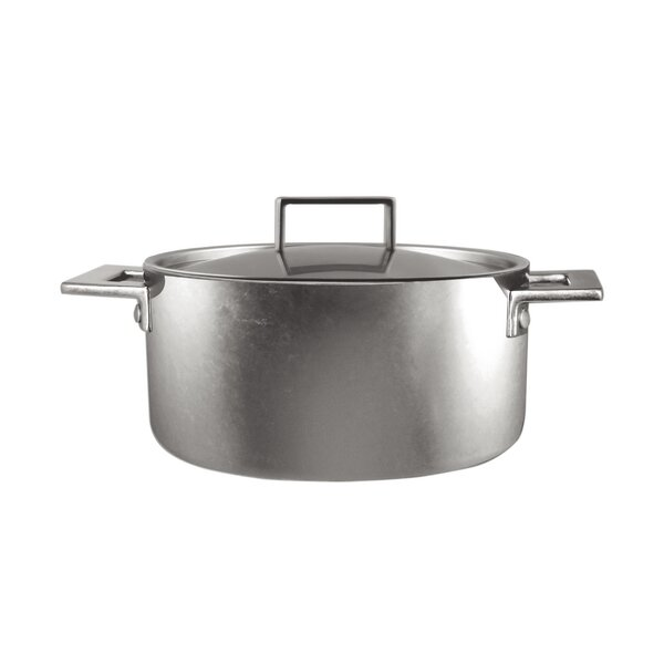 Attiva Casserole 2 Hand Pewter Stock Pot with Lid by MEPRA