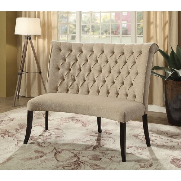 Floyd Upholstered Wood Bench by One Allium Way One Allium Way
