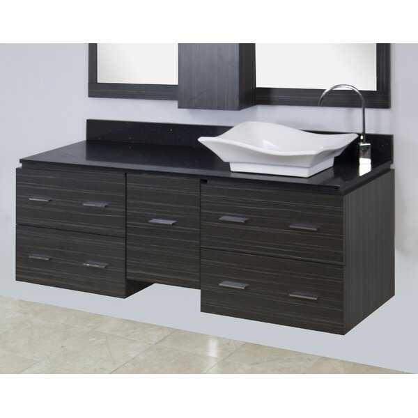60 Single Modern Wall Mount Bathroom Vanity Set