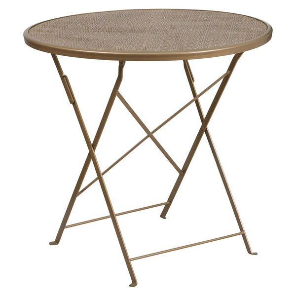Corcoran Folding Metal Dining Table by Wrought Studio