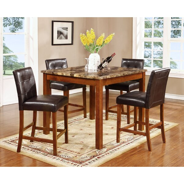 Harlingen 5 Piece Pub Table Set by Fleur De Lis Living
