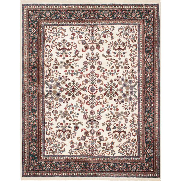 One-of-a-Kind Gregoire Hand-Knotted Ivory Area Rug by Isabelline