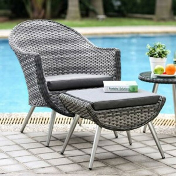 Delao 3 Piece Bistro Set with Cushions by Mercer41