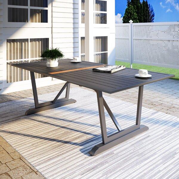 Sabiha Metal Dining Table By Latitude Run
