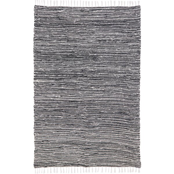 Bruges Flatweave Chenille Black/White Area Rug by