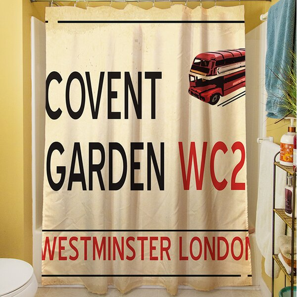 Covent Garden Shower Curtain by Manual Woodworkers & Weavers