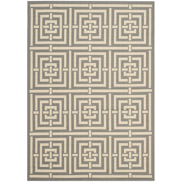 Romola Grey/Cream Indoor/Outdoor Rug by Highland Dunes