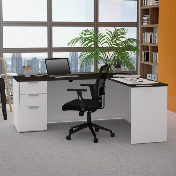 Hartleton L-Shape Corner Desk by Latitude Run