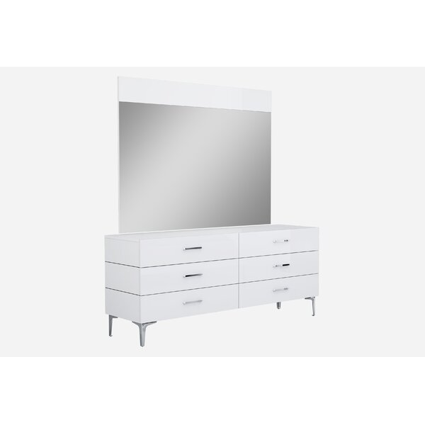 Parsons 6 Drawer Double Dresser by Wade Logan