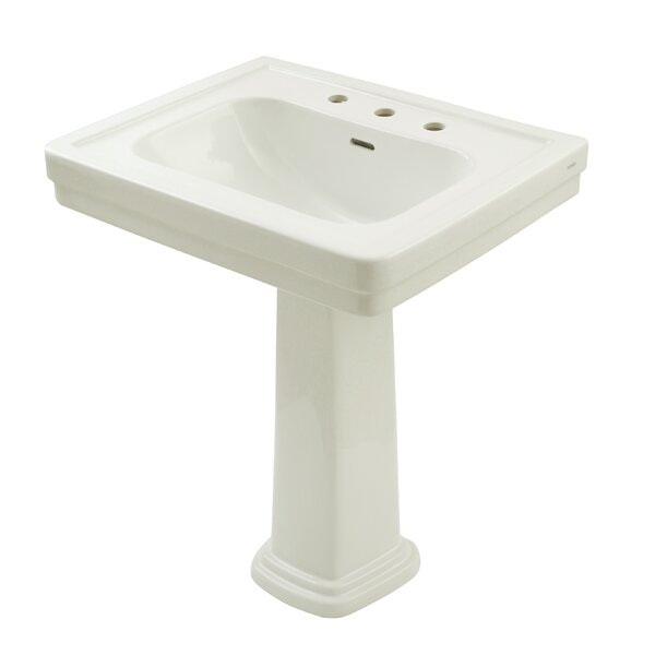 Promenade Vitreous China 35 Pedestal Bathroom Sink with Overflow by Toto