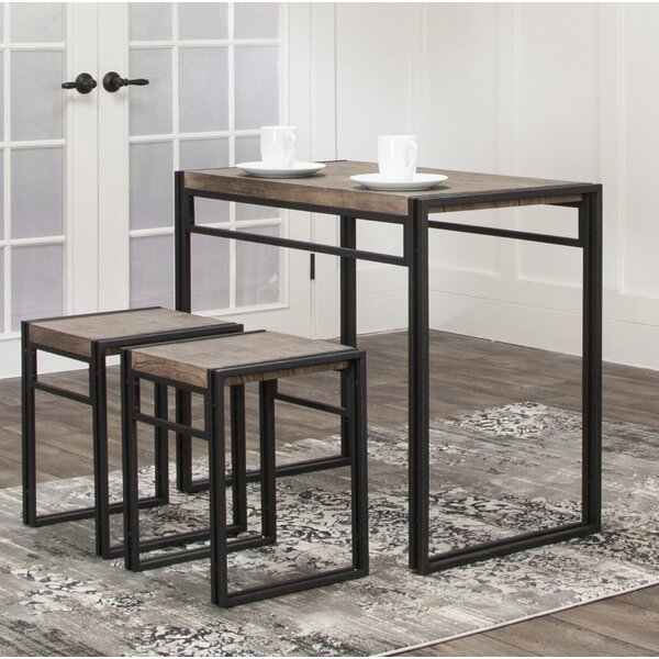 Chitwood 3 Piece Counter Height Dining Set by Williston Forge