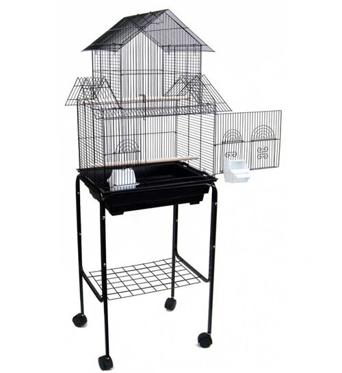 Holtzman Pagoda Small Bird Cage with Stand by Tuck