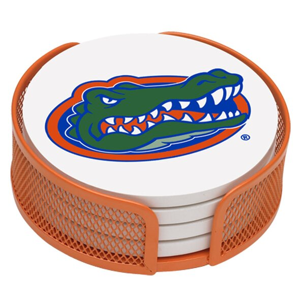 5 Piece University of Florida Collegiate Coaster Gift Set by Thirstystone