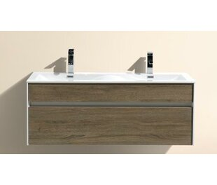 Find the perfect Brockman 20 Wall-Mounted Double Bathroom Vanity Set By Wade Logan