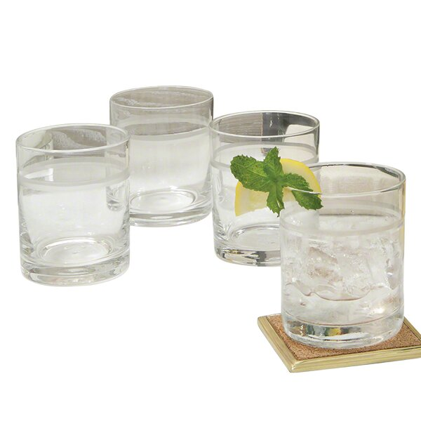 Double Old Fashion 1 Band Drinking Cocktail Glasses (Set of 6) by Global Views