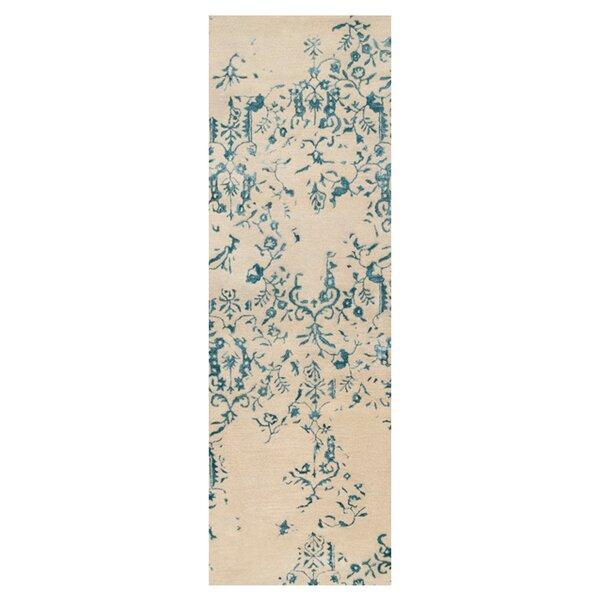 Bower Parchment/Blue Area Rug by Bungalow Rose