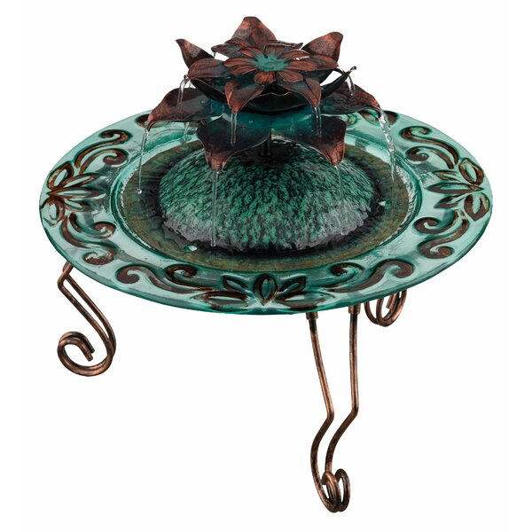 Glass Lotus Water Fountain by Regal Art & Gift