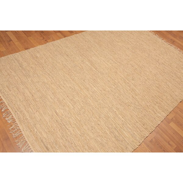 One-of-a-Kind Wethington Hand-Woven Tan Area Rug by Loon Peak