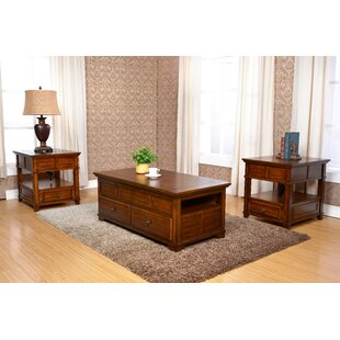 Check Prices Cleorand 3 Piece Coffee Table Set ByLoon Peak
