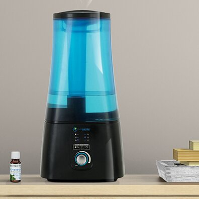 2 Gal. Warm and Cool Mist Ultrasonic Tabletop Humidifier by PureGuardian