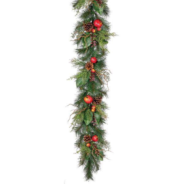 Pine and Pomegranate Garland by Millwood Pines