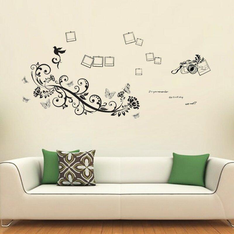 east urban home wandtattoo fotorahmen schmetterlinge und. Black Bedroom Furniture Sets. Home Design Ideas