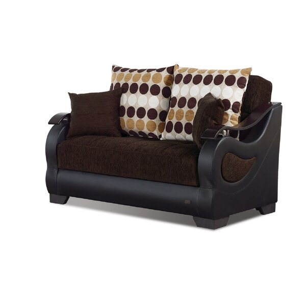 Illinois Chesterfield Convertible Loveseat by Beyan Signature