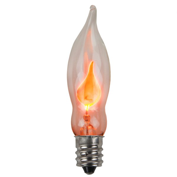C7 Flicker Flame Transparent Bulb by Wintergreen Lighting