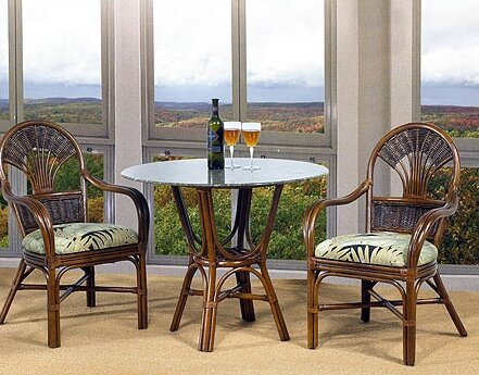 Tradewinds 3 Piece Bistro Set By Boca Rattan